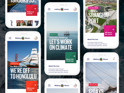 SDG World Tour website minimal web flat simple typography type design layout ui