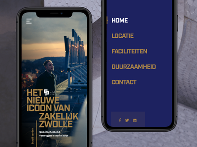 CityPost Mobile layout branding simple ux clean type design layout app menu mobile