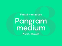 Fonts I Want To Use - Pangram