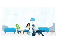Airport Lounge Illustration