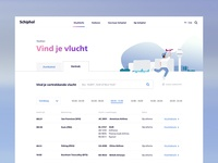 Schiphol.com - Flind Your Flight (early mockup)