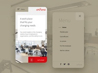 Ahrend Mobile Layout Menu