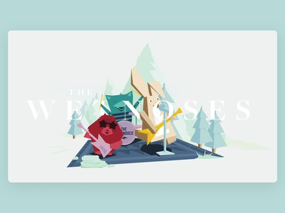 Behance project - Wetnoses illustrations