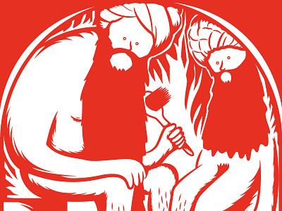 Hammam arabic turkishbath illustration salven ill red illustrazione