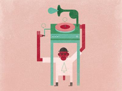 Le scimmie e il valzer illustration salven