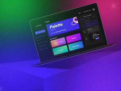 Palette Dashboard UI - Design Hack ux design hack design hack dashboard design mockup branding web minimal dashboard ui ui design