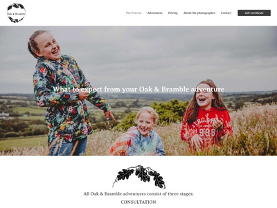 Family Photographer - Website Design design website builder website design website
