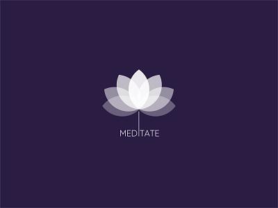 App Icon -Daily UI 005 lotus branding daily ui 005 ui daily ui meditation app icon