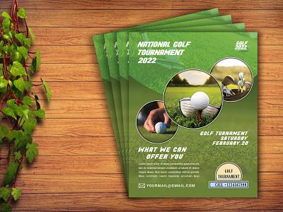 Golf Flyer Design tournament flyer flyer mockup creative flyer modern flyer corporate branding sports flyer sports flyer design golf flyer