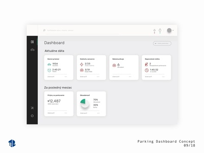 Smart Parking Dashboard - Concept