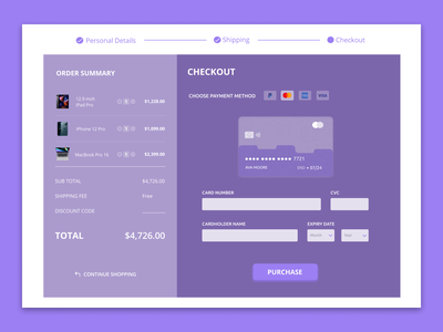 Credit Card Checkout figma design figma concept design user interface uiux dailyui 002 daily ui dailyuichallenge dailyui user interface design ui design ui design