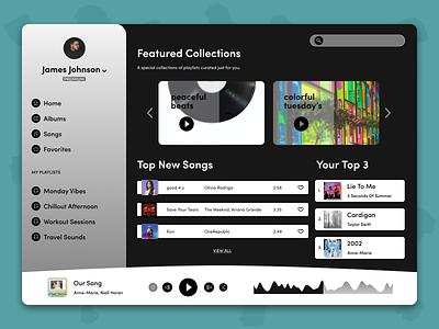 Music Player dailyui ui dailyuichallenge uiux app music player musicplayer user interface design figma design figma concept design ui design