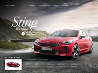 Kia Stinger webpage