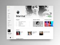 Music Player Desktop UI