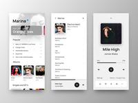 Music Player Mobile UI