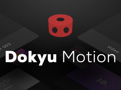 Dokyu Motion Poster logo after effects design branding