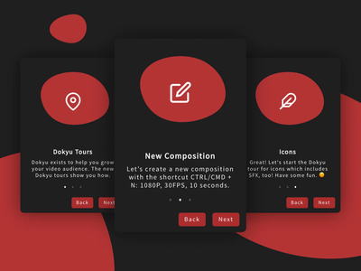 Dokyu Motion Onboarding Modals 2d minimal motion design modals onboarding ux ui after effects