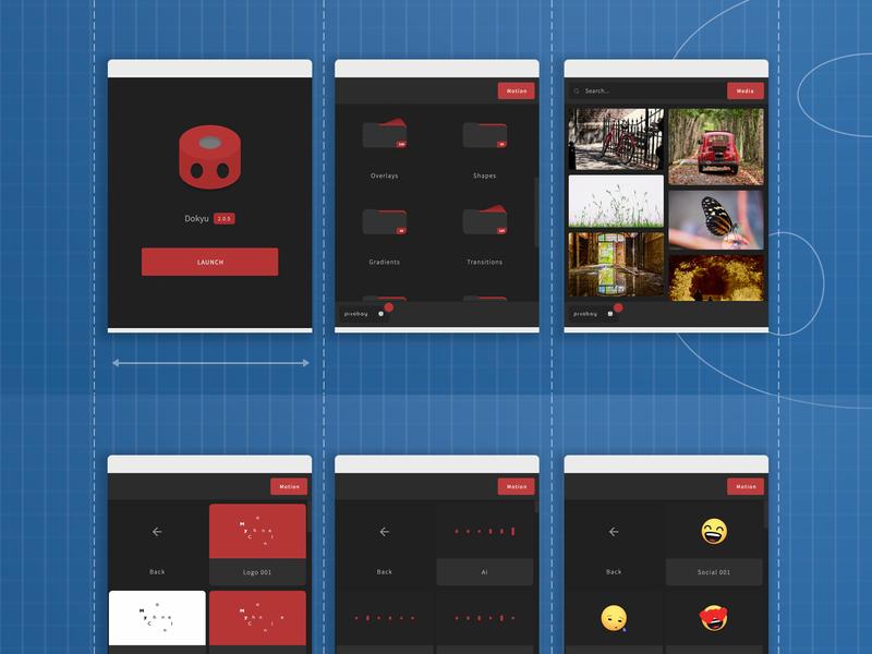 Dokyu Motion Blueprint blueprint promotion application app ui after effects