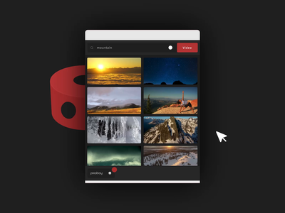 Dokyu Video App - Free Stock Video In After Effects animation branding ux ui pixabay motion design dokyu after effects stock video 4k