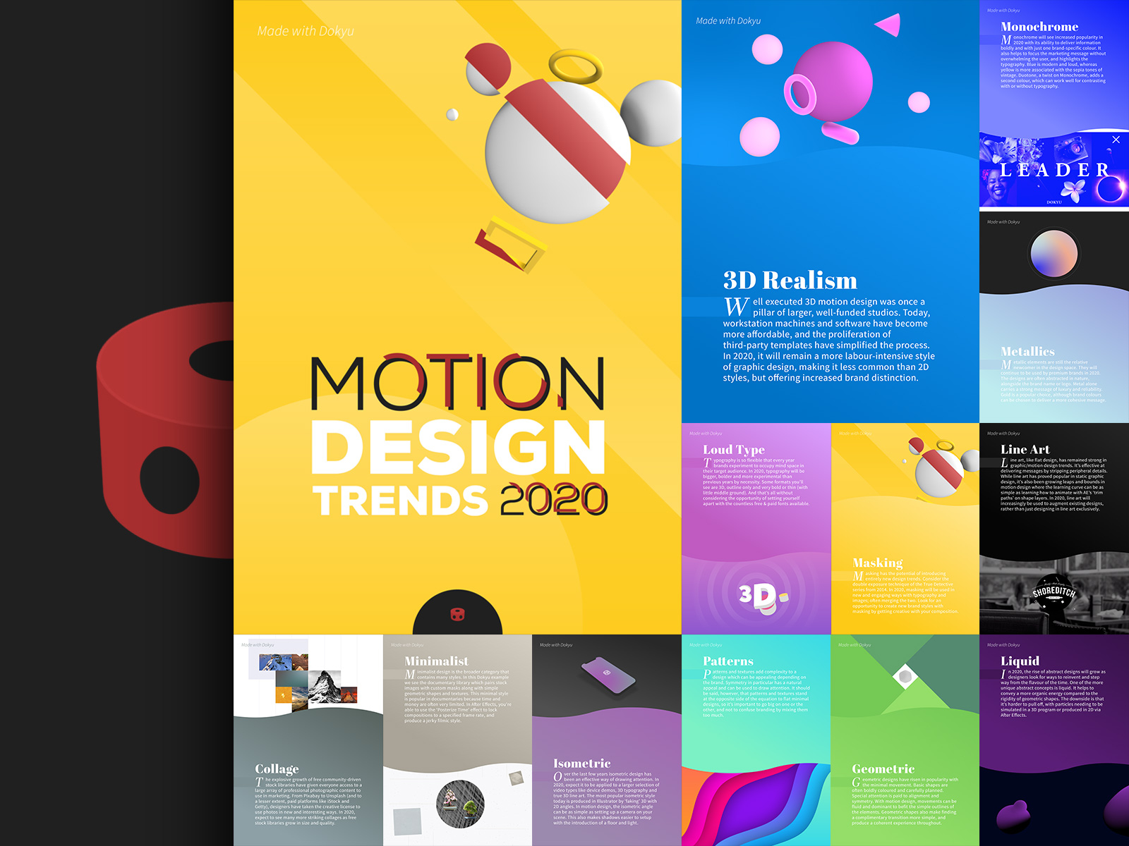 2020 Motion Design Trends Dokyu Motion By David Hawkins On Dribbble