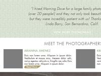 Photography Business Rebrand - Detail Shot