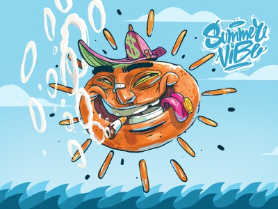 Summer Vibe travel софия графити clothing label surf arsek erase miami vice bulgaria sunrise sunset apple logo art graffiti character design love beach sun design illustration summer vibes
