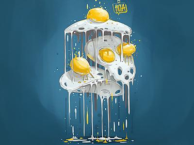 Flying Eggs georgi dimitrov erase flying eggs illustration hunger games hola art wallpaper