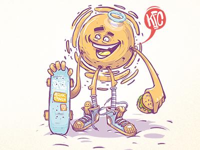 Sun georgi dimitrov erase illustration kfc sk8 tasty sunny days sun apple love