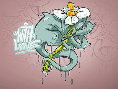 With Love love georgi dimitrov bulgaria erase illustration flowers feel