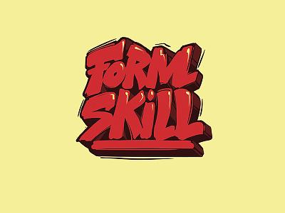 Form Skill red urban graffiti art street design event dance break logo skill form