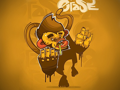 Crazy Monkey georgi dimitrov erase print monkey art crazy illustration 2012