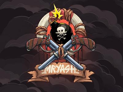 Mr. Yash digital dream sea caligraphy typogaphy retro bomb guns pirate pirategraphic logo 2d illustration art director design snowboard illustration totem logo