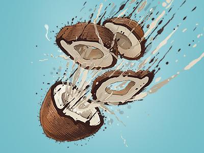 Coconut Bomb  georgi dimitrov erase art apple banana coconut bomb illustration dribble show featured behance