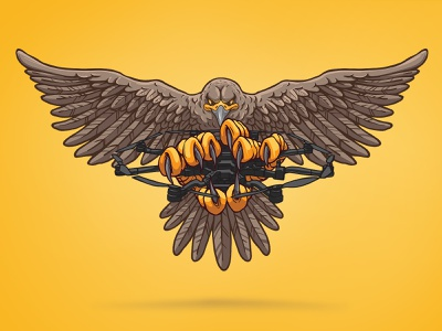 Petadrones vector illustration vector art commision fourplus travel usa cyprus graffiti drone logo film animals art earth illustration yellow eagle movie company cinema drone petadrones