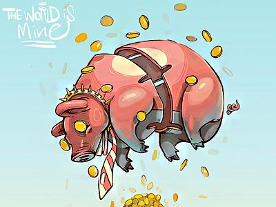 pig piggy bank georgi dimitrov erase 2002 illustration logo pig piggy bank money ui