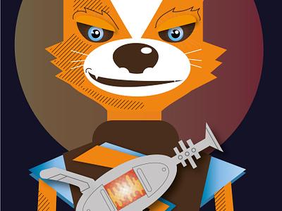 Captain Space Fox illustration vector character creation