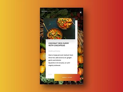 Daily Ui - Recipe recipe mobile iphone ios gradient form food ui daily