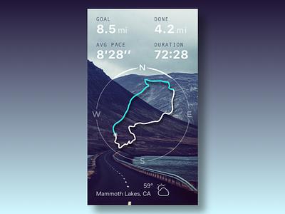 Dayli UI - Run Route run route map gradient free sketch ios iphone ui daily ui
