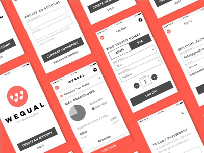 UX: Wequal App Wireframes