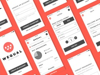 UX: Wequal App Wireframes