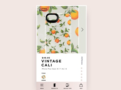 LuMee Product Page Redesign selfie webdesign design bottom navigation pattern product page ui phone case phone ecommerce