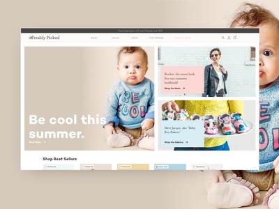 Freshly Picked Homepage Redesign