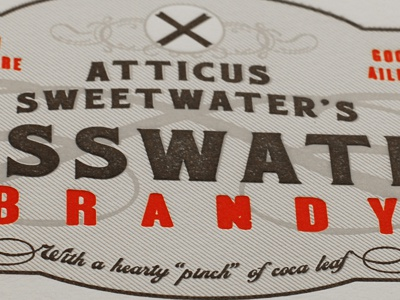 Atticus cusswater sweetwater brandy 1