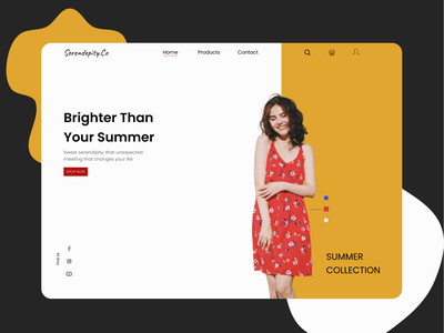Serendepity.Co - Brighter Than Your Summer design ux ui