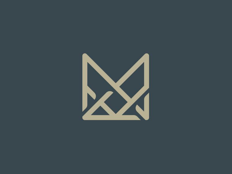 Monogram Logo M W Initials real estate agent logo