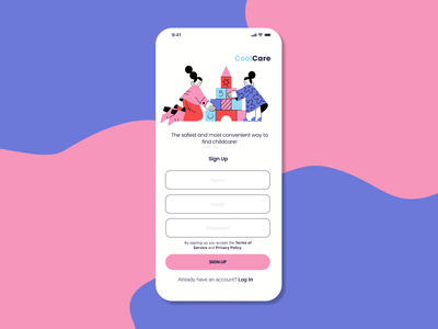 Daily UI :: 001 Sign Up figma typography app ux ui design
