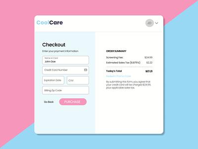 Daily UI :: 002 Credit Card Checkout ux design figma dailyui branding