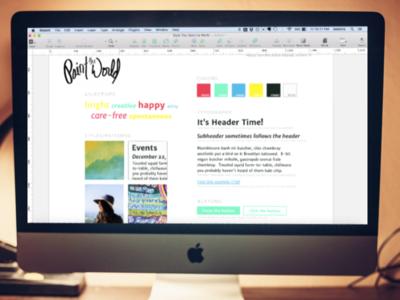 Nonprofit Website Style Tile