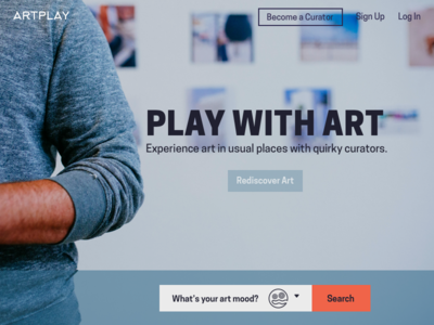 Art Community Marketplace Landing Page ux ui marketplace community art landing page