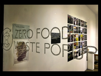 Human Centered Design Popup Experience Logo and Gallery Display prototype food food waste human centered design popup gallery logo design logo
